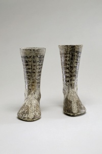 182. Two Votive Boots