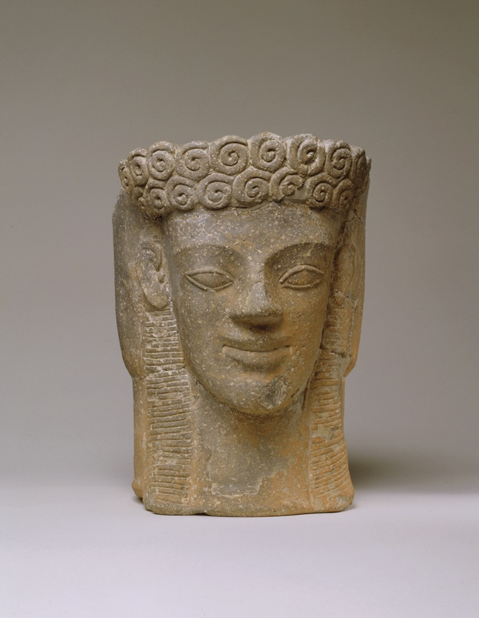 092. Head of Kore (vase) - Archaic
