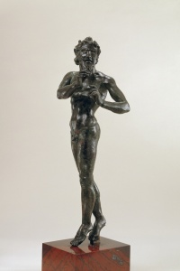 170. Satyr dancing and playing the aulos? - Hellenistic